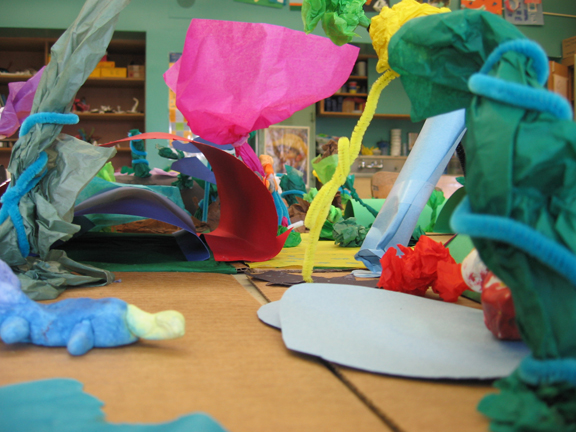 Paper Sculpture Habitats