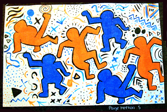 keith haring painting project haringkids lesson plans