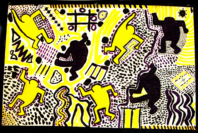 Keith Haring Painting Project
