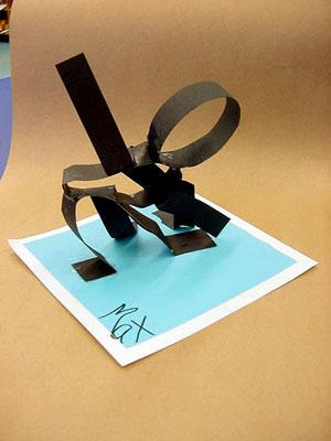 3D Paper-Edge Figure Sculptures