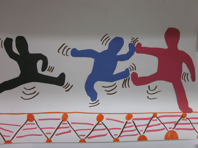 Jumping Kids Art | HaringKids Lesson Plans