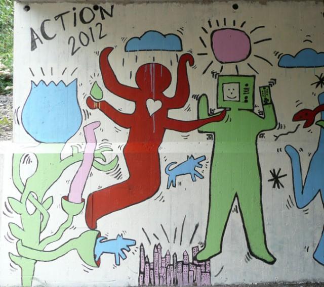Haring Inspired Mural